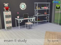 Sims 4 CC's - The Best: Study Set by xyra33