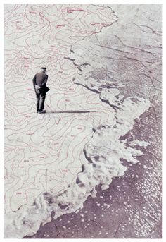 Folio Society by Martin O'Neill - layered design, maps and photography integrated, desaturated colours with cracked textures creates aged appearance. Collages, Collage Art, Collage Illustration, Architecture Drawings, Map Design, Photo Manipulation, Installation Art, Fine Art Photography, Man Cut