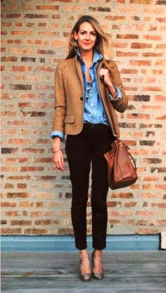 Cool Business casual dress for young women 2017-2018 Check more at http://24myfashion.com/2016/business-casual-dress-for-young-women-2016-2017/
