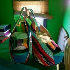 Too much fun platform heels Swirls of color on a six inch platform sling back  heels.. in excellent condition..worn once Luichiny Shoes Platforms