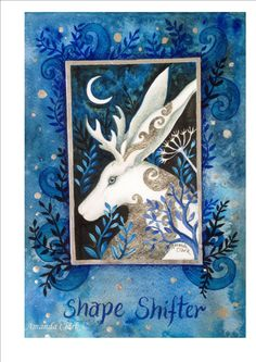 A painting and collage/journal page by Amanda Clark. Shape Shifter. by…