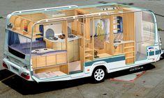КБ) Просмотров: 16206 Source by kimdoitung. Camper Caravan, Camper Life, Rv Campers, Camper Trailers, Small Houses On Wheels, House On Wheels, Kombi Motorhome, Campervan, Fendt Caravan
