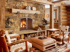 rustic looking living rooms | Get Cozy! – A Rustic Lodge Style Living Room Makeover