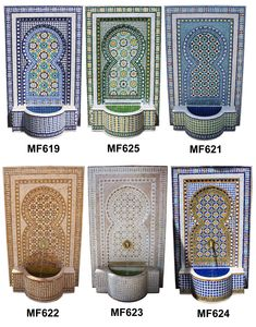 Moroccan mosaic tile wall fountain, wall fountain, Moroccan wall fountain, mosaic tile fountain, Moroccan tile fountain, Moroccan fountains, mosaic wall fountain, tile wall fountain