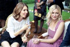 Sophia Coppola and Kirsten Dunst... from VF Photos: Louis Vuitton at the Paris Ritz