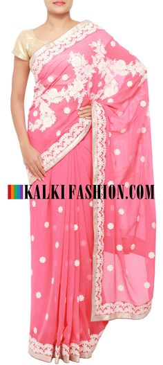 Get this beautiful saree here: http://www.kalkifashion.com/catalog/product/view/id/11456/s/peach-saree-embellished-in-thread-work-only-on-kalki/  Free shipping worldwide.