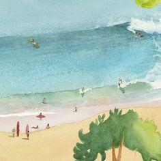 Isidore Leroy - Retrouvez tous nos papiers peints sur notre site internet Ww Images, Surf Art, Painting & Drawing, Illustration, Surfing, Framed Prints, Site Internet, Wallpaper, Drawings