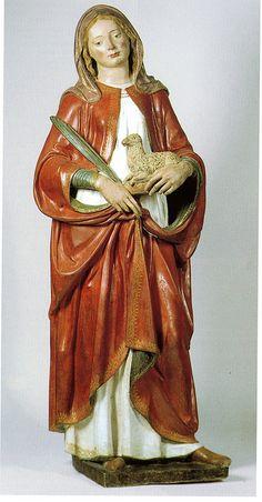 Andrea della Robbia - Sant'Agnese - 1500-1510 - Bagni di Romagna Basilica Santa Maria Assunta