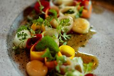 From the current 'best restaurant in the world' Noma in Copenhagen. Pickled vegtables and bone marrow