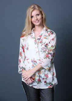 Yaara Chiffon Shirt in Floral Print