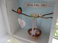 Welcome Baby Keepsake Box and Frame