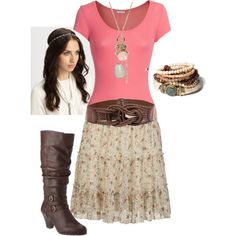 Gypsy style - just got this skirt :) Love this hair!