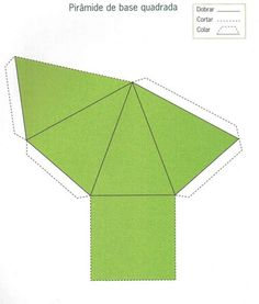 São 50 moldes diversos de sólidos geométricos para recortar e montar: molde de cone, molde de pirâmide, molde de cubo, molde cilindro, mo... Geometric Designs, Geometric Shapes, Art Cube, Math Charts, Cement Crafts, Food Pyramid, Principles Of Art, Montessori Activities, Origami Art