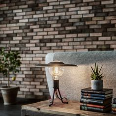 Unexpected and different, the Shade Tripod Base LED Table Lamp by Vita Copenhagen is a perfect gift for the friend who has everything and enjoys quirky design. Desk Lamp Design, Bedside Table Lamps, Table Lamp, Metal Desk Lamps, Table, Candle Matches, White Table Lamp, Tripod Table Lamp, Industrial Desk Lamp