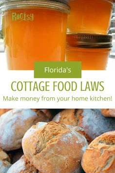 Have you ever seen someone selling cookies or jams and jellies at a local farmer's market? There's a good chance they're operating under Cottage Food Laws. Cottage Food Laws were developed for people to sell shelf stable and low risk food products from their home. No commercial kitchen or regulatory inspection needed. Shelf stable products are things such as breads and other baked goods, pickles, jams, sauerkraut, jarred sauces, and more. Cottage Food Laws vary greatly from state to state. Selling Eggs, Sandwich Bread Recipes, Jam And Jelly, Meat Chickens, Home Food, Commercial Kitchen, Sauerkraut, Coffee Cake, Organic Recipes