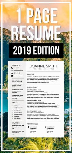 1 Page Resume Template 2019 One page resume Compact resume Resume for Word ---CLICK IMAGE FOR MORE--- resume how to write a resume resume tips resume examples for student Template Cv, One Page Resume Template, Resume Templates, Modern Resume Template, Free Professional Resume Template, Resume Skills, Job Resume, Resume Tips, College Resume