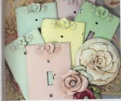 DIY Shabby Chic Light Switches