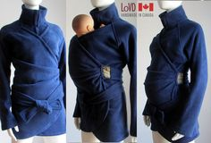 Must have for Canadian Winters!!! Maternity Jacket. Babywearing Coat. Sling Coat. Lilies of the Valley | via Etsy