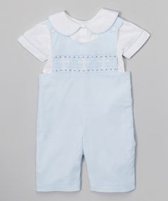 Loving this Blue & White Cross Layered John Johns - Infant on #zulily! #zulilyfinds  21.99  (65.00)