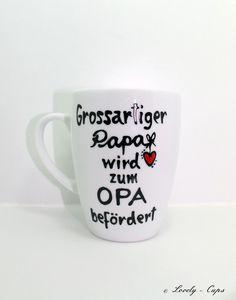 Du wirst OPA Geschenk für PAPA OPA Geschenk Tasse von Lovely-Cups   auf DaWanda.com