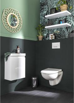 Toilet For Small Bathroom, Guest Toilet, Spa Like Bathroom, Bathroom Design Small, Pack Wc, Bedroom Decor For Couples, Toilet Design, Beautiful Interiors, Marie Claire