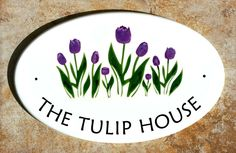 Classy Plaques Store - Tulip Flowers Oval Address Signs, $179.00…