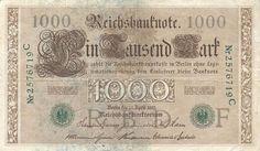 1910 Imperial German 1000 Mark - Green Seal