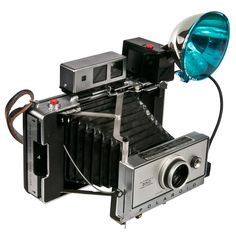 Polaroid 350 Land Camera & Case