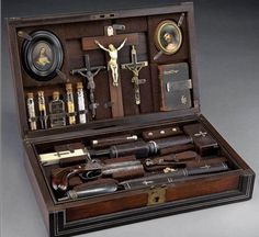 This is incredible! c. 1800s vampire killing kit.
