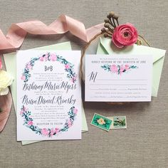 Floral Wedding Invitations | Brides