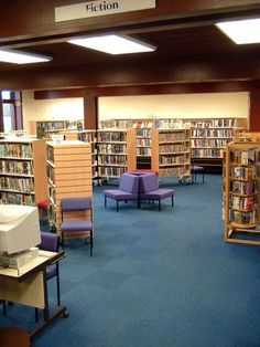The fiction area in Bo'ness Library