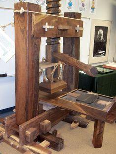 Gutenberg Replica Fifth GradePrinting PressGraphic