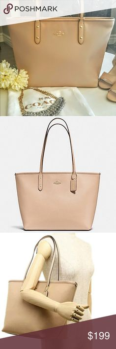 JUST IN! 🍂Nude Coach City Tote🍂 🍂Retail $295🍂 Coach Bags Totes