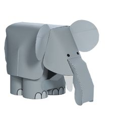 Canon Papercraft - Movable Elephant Free Paper Toy Download