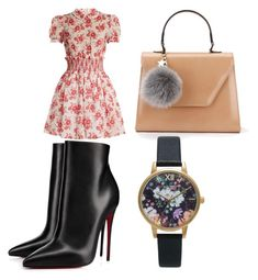 """Going to dinner look"" by nkotovic on Polyvore featuring Miu Miu, Christian Louboutin and Topshop"