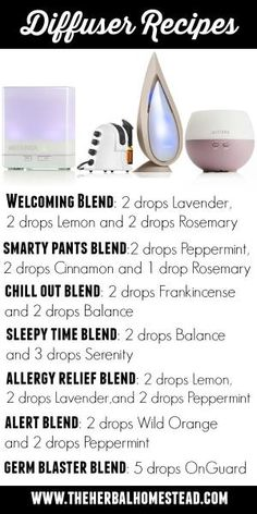 Diffusing essential oils is a wonderful way to enjoy the therapeutic benefits of essential oils. Enjoy some of my favorite recipes. by annabelle
