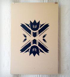 Folk Flower Print | Art Prints | YellowLion | Scoutmob Shoppe | Product Detail