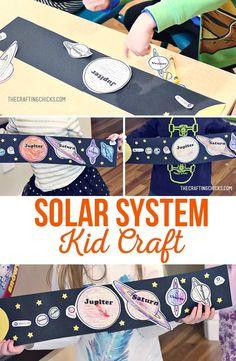 Solar System Craft | Kids Craft | Kids Activity | Space Activity | Space Craft | Solar System Coloring Page