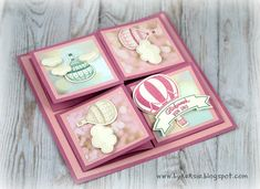 by Keksie: Abgehoben, 4 fache Easel Card, Stampin up, Karte