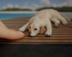 OOAK Dollhouse Realistic Miniature 1 12 ¯` 039 • Labrador Dog • 039 ´¯ Handmade Sculpt | eBay