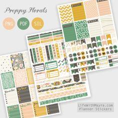 Free Preppy Floral Printable Stickers | lifewithmayra