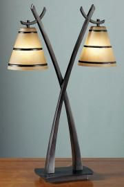 Wright Table Lamp with Scavo Glass