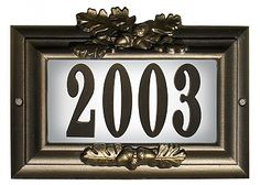 Edgewood Hefty Lighted Address Plaque Do it yourself kit, Oil Rub Bronze Address Numbers, Address Plaque, Address Signs, Cluster Mailboxes, Mailbox Accessories, Civil Air Patrol, Do It Yourself Kit, House Names, Sign Lighting