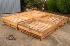 Pallet Veggie Patch - for more pallet ideas check out https://www.facebook.com/recycled.creations100