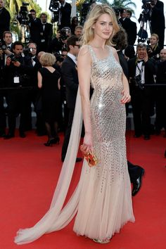 Vanessa Hessler beautiful on the red carpet at the Cannes Festival 2014.
