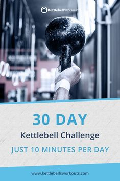 The 30 day kettlebell challenge in just 10 minutes per day. The 30 day kettlebell challenge in just 10 minutes per day. Fitness Workouts, Kettlebell Workout Routines, Kettlebell Benefits, Kettlebell Challenge, Kettlebell Circuit, 30 Day Fitness, At Home Workouts, Cardio Workouts, Fitness Hacks