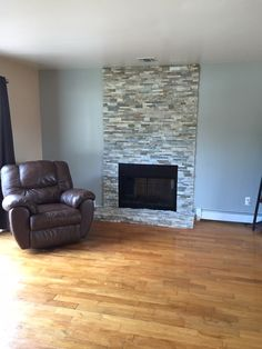 New fireplace stone and wall color
