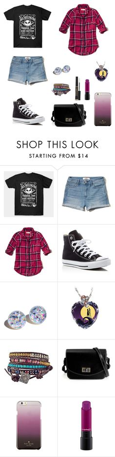 """Casual"" by heyladylolita ❤ liked on Polyvore featuring Hollister Co., Converse, The Bradford Exchange, Kate Spade and L'Oréal Paris"