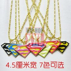 I found 'Superman super man charm hip hop bling pendant necklace hiphop' on Wish, check it out!