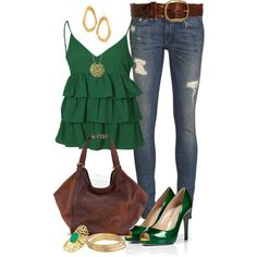 Green Summer Casual by angela-windsor on Polyvore